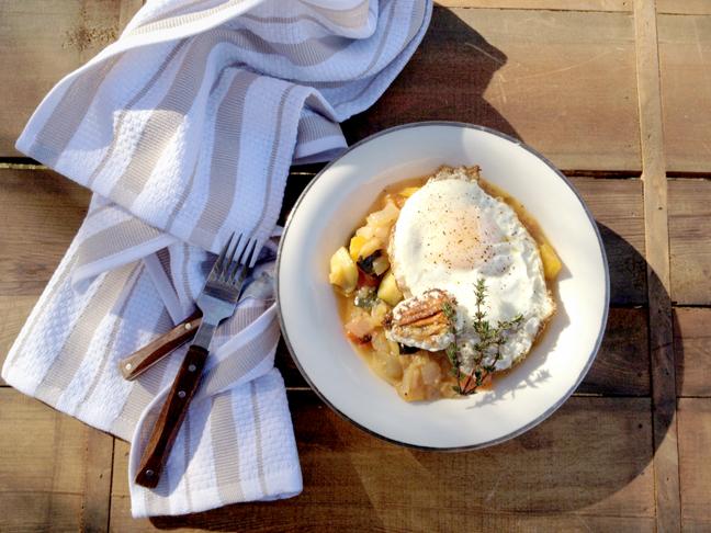 egg and ratatouille